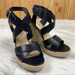 JustFab Joan Crisscross Espadrille Wedge Sandals